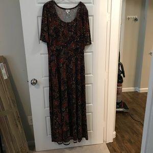 LuLaRoe Women's Size 3XL maxi dress.